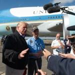 Donald Trump llega a Florida para evaluar daños por Michael - Foto de AFP