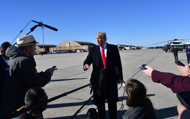 Donald Trump agradece a México envío de PF a frontera sur - Foto de AFP