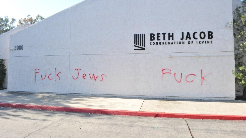 Vandalizan sinagoga en Los Ángeles - Foto de AFP