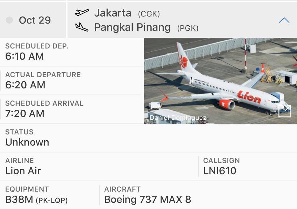Pierden contacto con avión de pasajeros de Lion Air en Indonesia