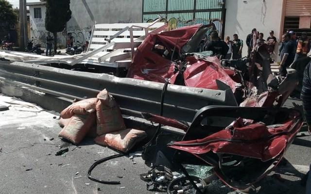 Fuerte accidente en autopista México-Puebla deja un lesionado - Foto de Letra Roja