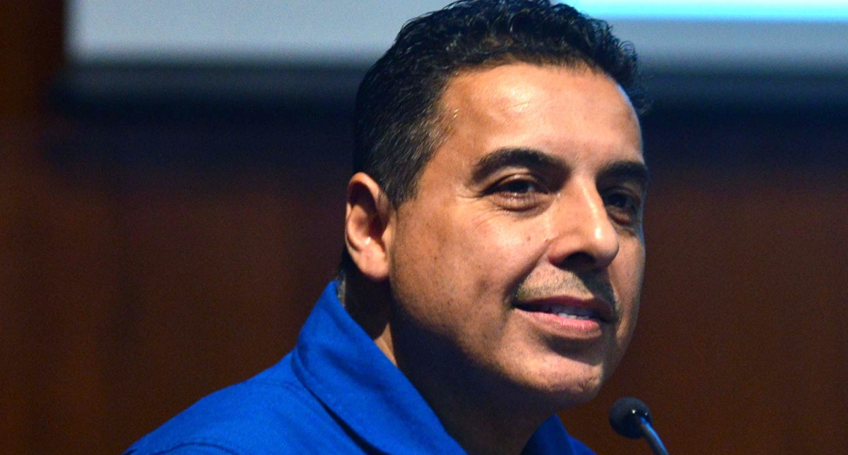 Astronauta José Hernández Moreno. Foto de UNAM