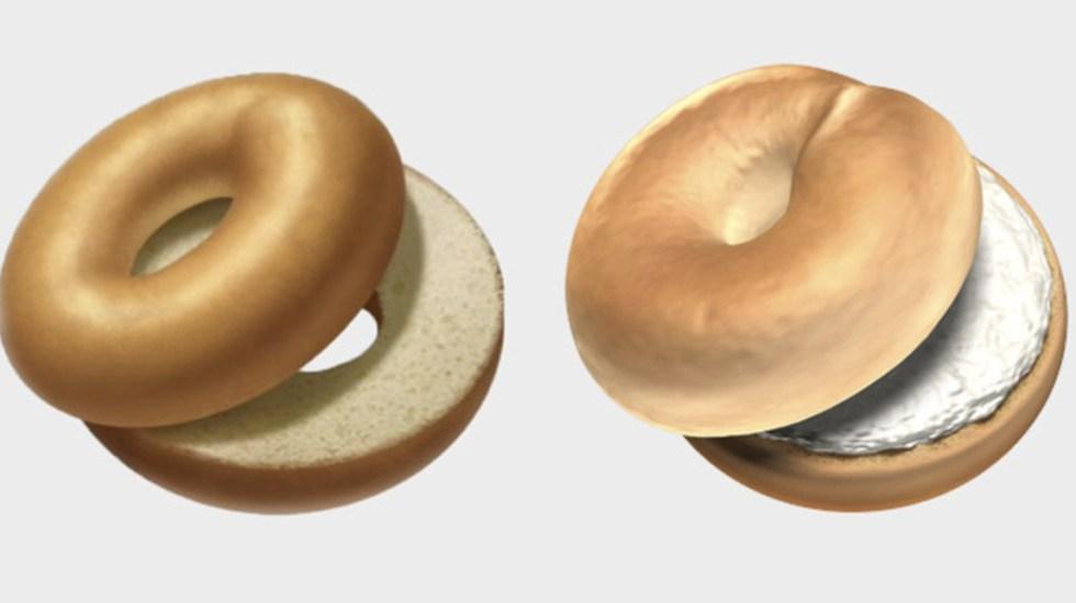 Apple pone queso crema a emoji de bagel tras críticas - Foto de Grub Street