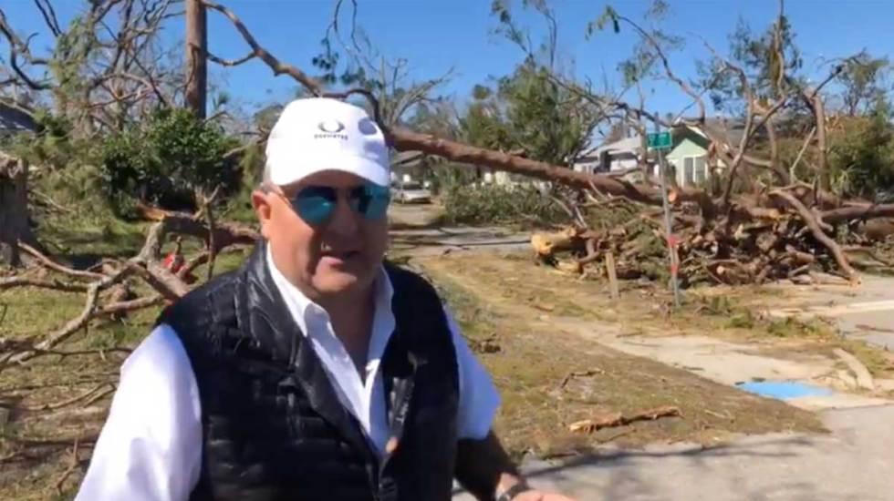 Devastación en Panama City tras el paso del huracán Michael