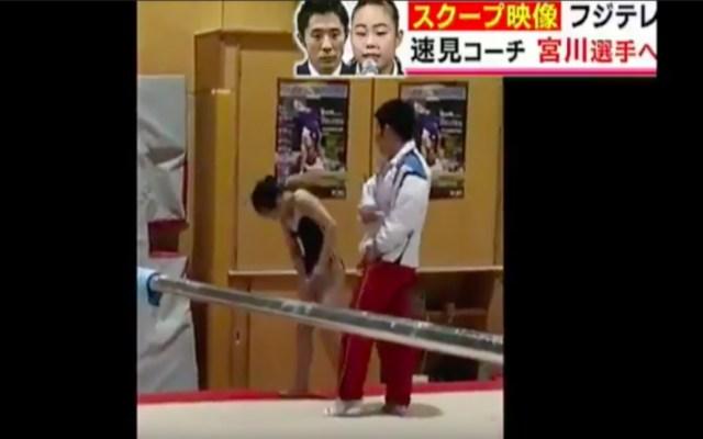 #Video Entrenador abofetea a gimnasta por errores en un entrenamiento - La gimnasta fue golpeada por su entrenador durante un entrenamiento
