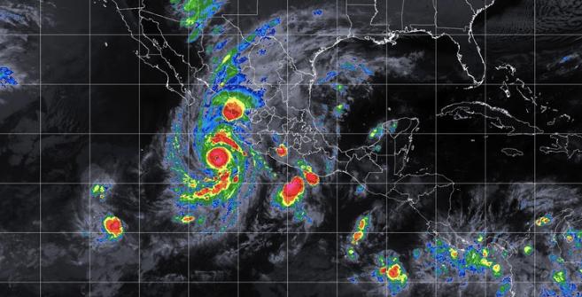 Suspenden clases en 7 municipios de Sinaloa por 'Willa' - Mapa Satelital Huracán Willa. Foto de smn.cna.gob.mx