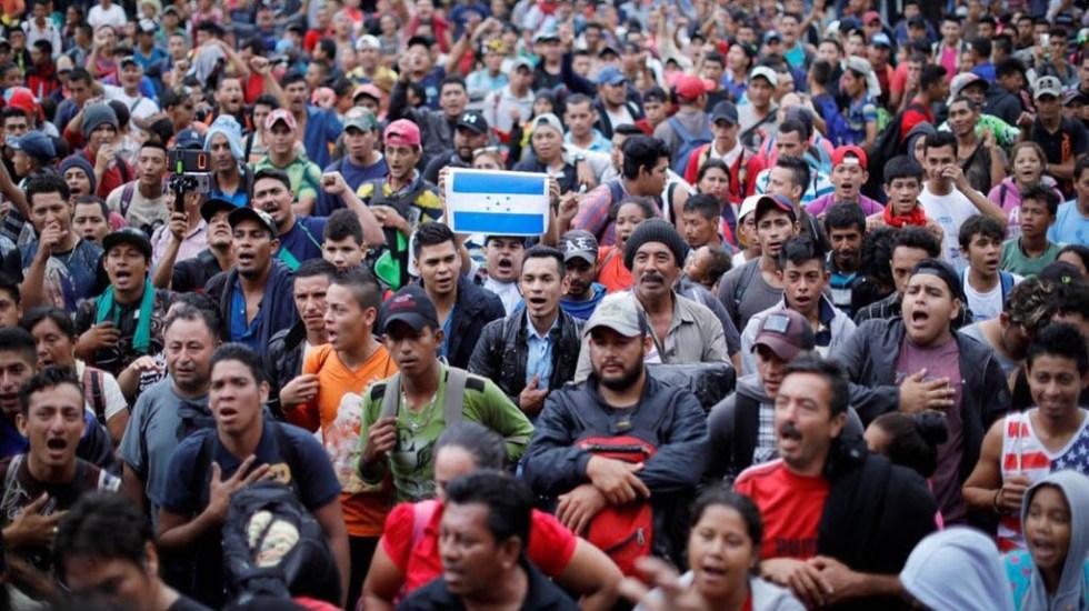 Han ingresado al país más de 6 mil migrantes en dos semanas: Segob - Migrantes viajan desde Honduras a Estados Unidos. Foto de Twitter