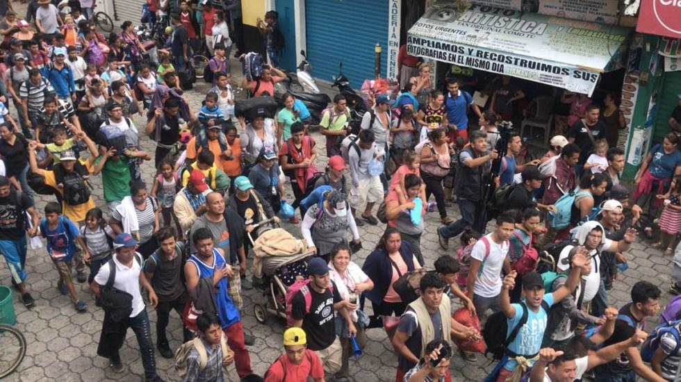 La caravana migrante llegó a la frontera de Guatemala con México