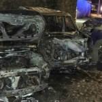 Choque en Jardines del Pedregal deja tres vehículos calcinados - choque vehículos calcinados jardines del pedregal