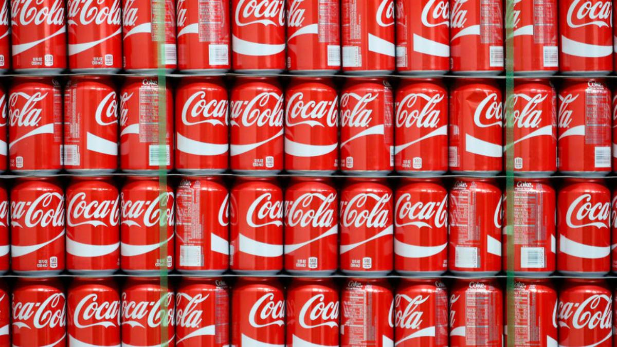 Coca-Cola se ubica en el quinto lugar, detrás de Microsoft y lejos de Amazon
