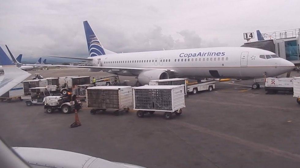 Avión de Copa Airlines aterriza de emergencia en AICM - Foto de internet.