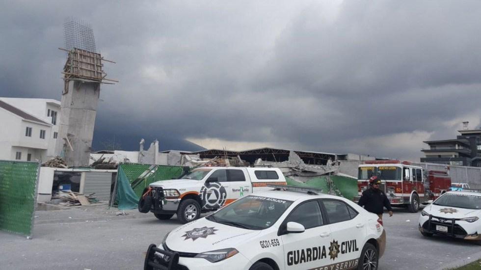 Derrumbe de centro comercial en construcción en Monterrey - derrumbe en Monterrey