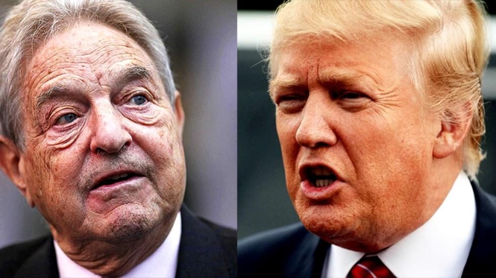 Trump culpa a Soros por protestas contra Brett Kavanaugh - Trump culpó a George Soros de las protestas en Washington contra Kavanaugh