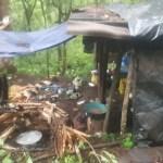 Enfrentamiento contra civiles armados deja dos militares heridos - Refugios del narcotráfico hallados en cerro El Querendal. Foto Especial