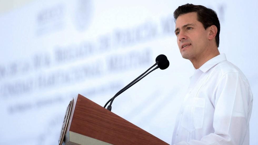 Declaraciones de Lozoya acercan posible acusación contra Peña Nieto por corrupción - Enrique Peña Nieto durante su Presidencia. Foto de Presidencia