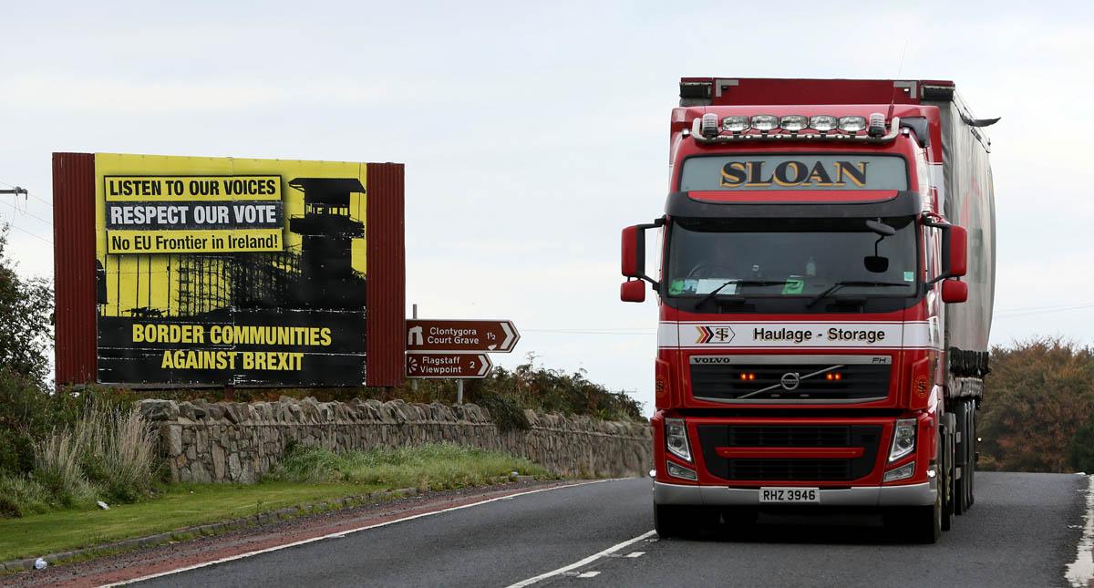 Frontera entre Irlanda del Norte y República de Irlanda. Foto de AFP / Paul Faith