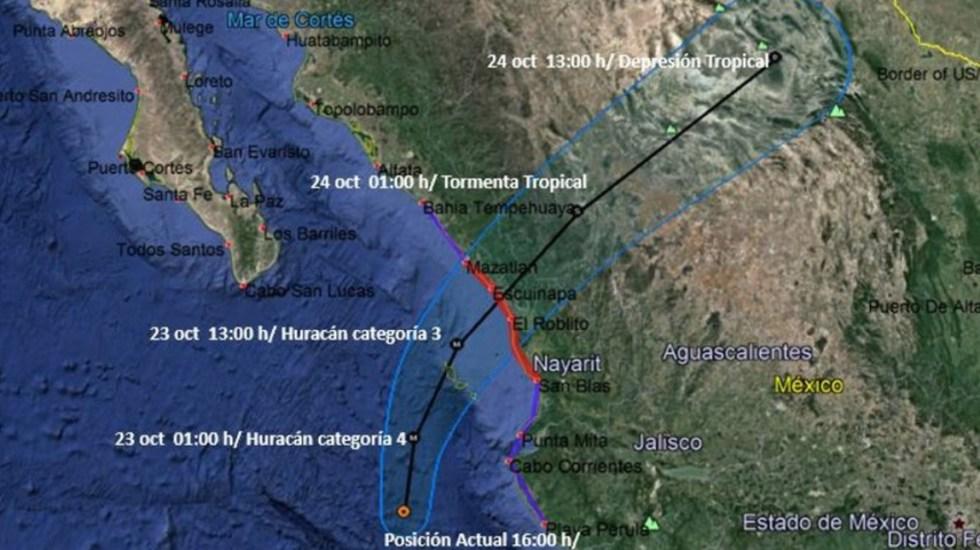 Willa impactaría México como huracán categoría 3 - Foto de Conagua Clima