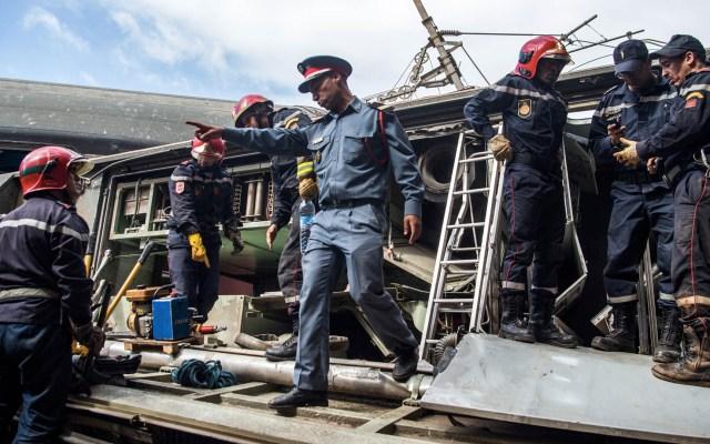 Descarrilamiento de tren en Marruecos deja al menos siete muertos - Foto de Fadel Senna/AFP