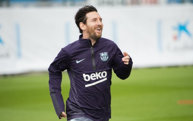 Messi regresa a los entrenamientos tras fractura - Foto de @FCBarcelona