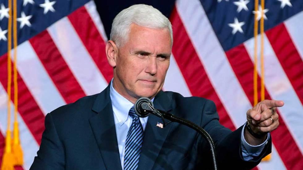 Pence pide a aliados europeos retirarse del acuerdo nuclear sobre Irán - mike pence acusa a veneuela de financiar caravana migrante