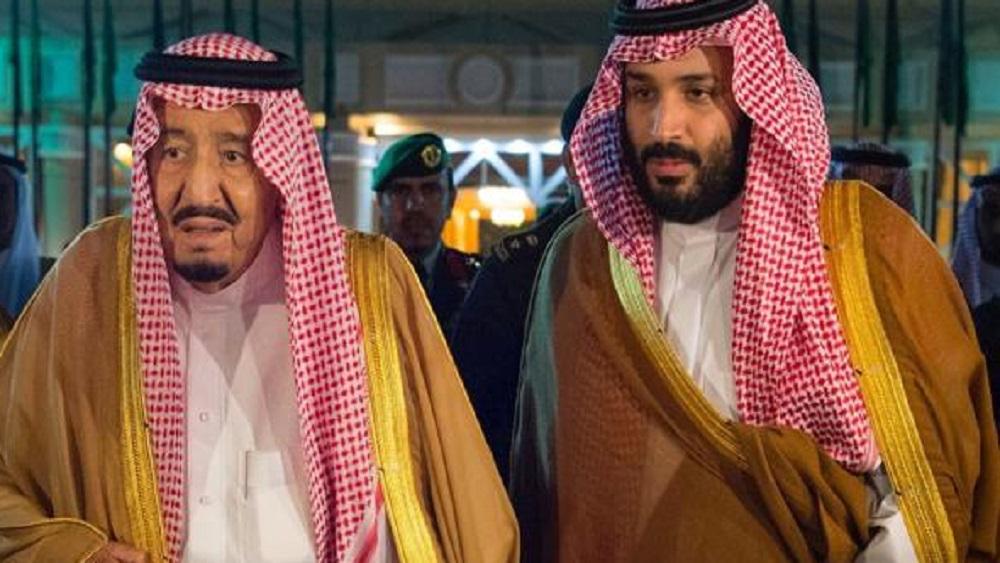 Corona saudí externa condolencias a hijo del periodista Kashoggi - Mohamed bin Salman y el rey Salman. Foto de Internet