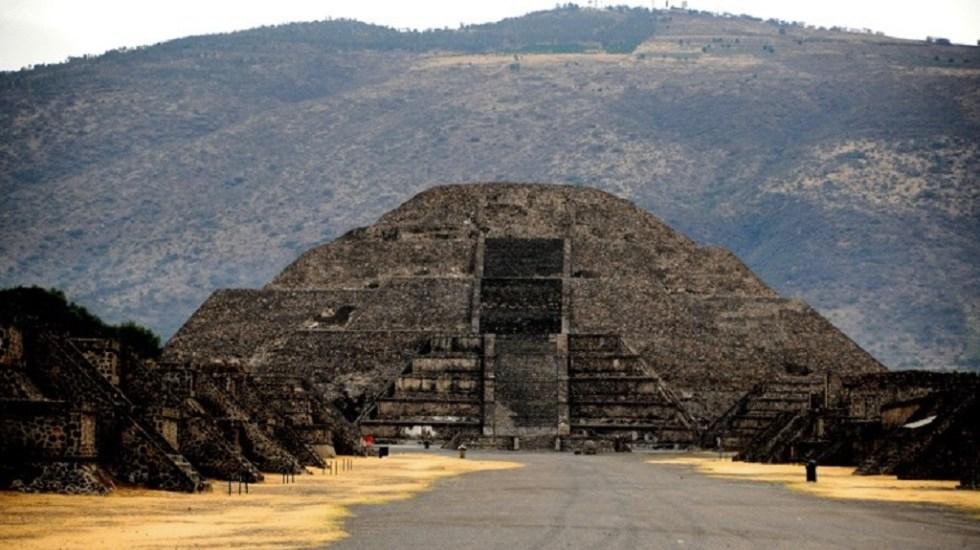 Hallan cámara secreta debajo de la Pirámide de la Luna - Pirámide de la Luna en Teotihuacán. Foto de INAH