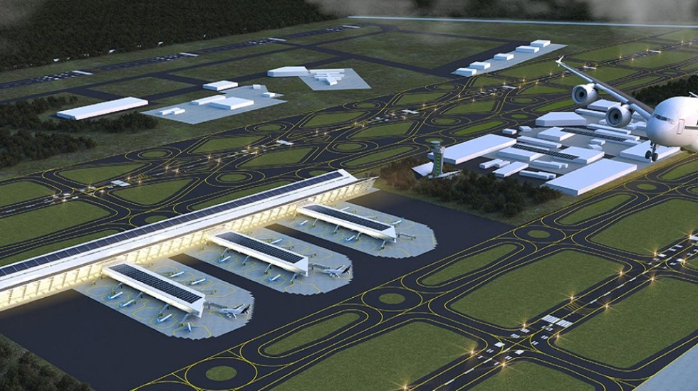 Costo de Aeropuerto de Santa Lucía aumenta 11.7 por ciento - Proyección de la Base Aérea de Santa Lucía como aeropuerto. Foto de Internet