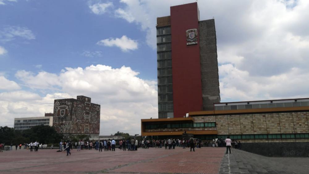 Estudiantes de la UNAM se niegan a recibir respuesta a pliego petitorio - Rectoría de la UNAM