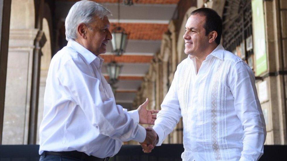 El gobierno no es el DIF, no es para la familia: AMLO sobre nepotismo - Cuahtémoc Blanco y López Obrador. Foto de @cuauhtemocb10