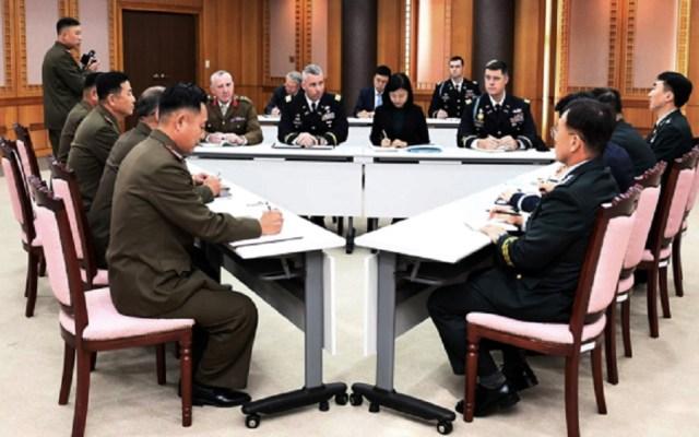 Corea del Norte y del Sur retirarán las armas de la frontera - Reunión de Corea del Norte, Sur y Comando de la ONU. Foto de AP