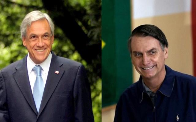 Piñera buscará fortalecer relaciones con Jair Bolsonaro - Sebastián Piñera y Jair Bolsonaro. Foto de Internet