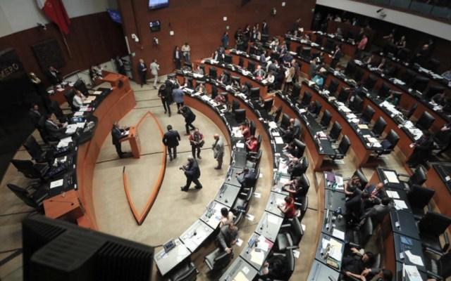 Senado trabaja para sacar adelante iniciativa de revocación de mandato - Sesión en el Senado. Foto de Internet