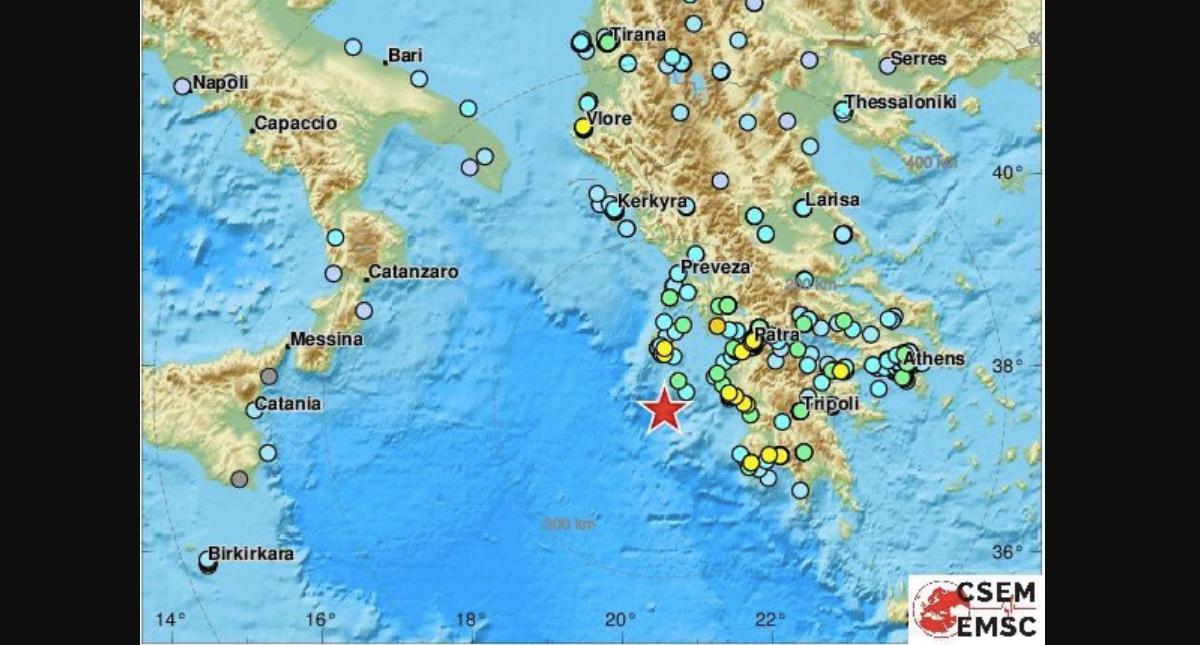 Sismo de magnitud 6,8 sacude islas jónicas de Grecia