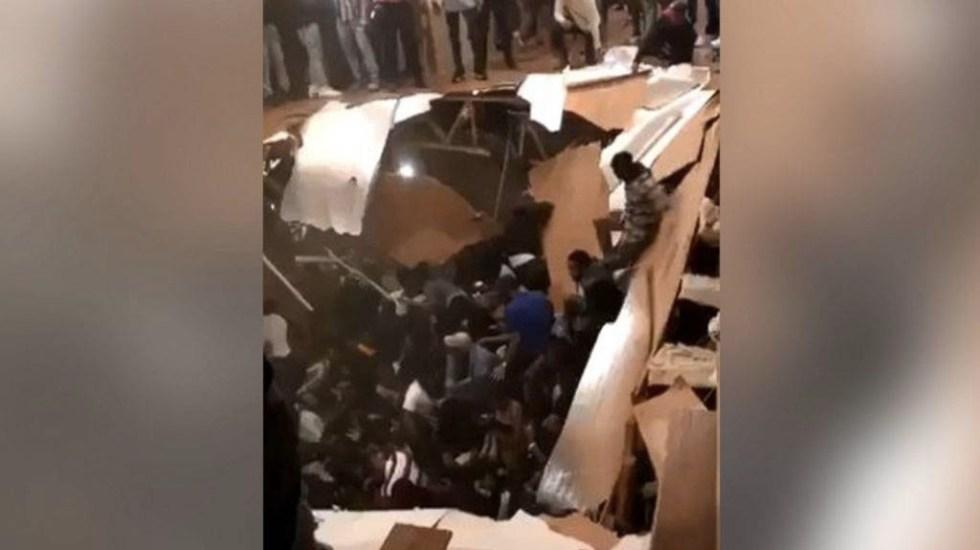 #Video Colapsa suelo durante fiesta universitaria en EE.UU. - Fiesta
