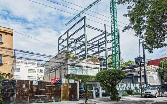 Suspenden nuevas construcciones en Benito Juárez e Iztacalco - Obra en construcción. Foto de Twitter