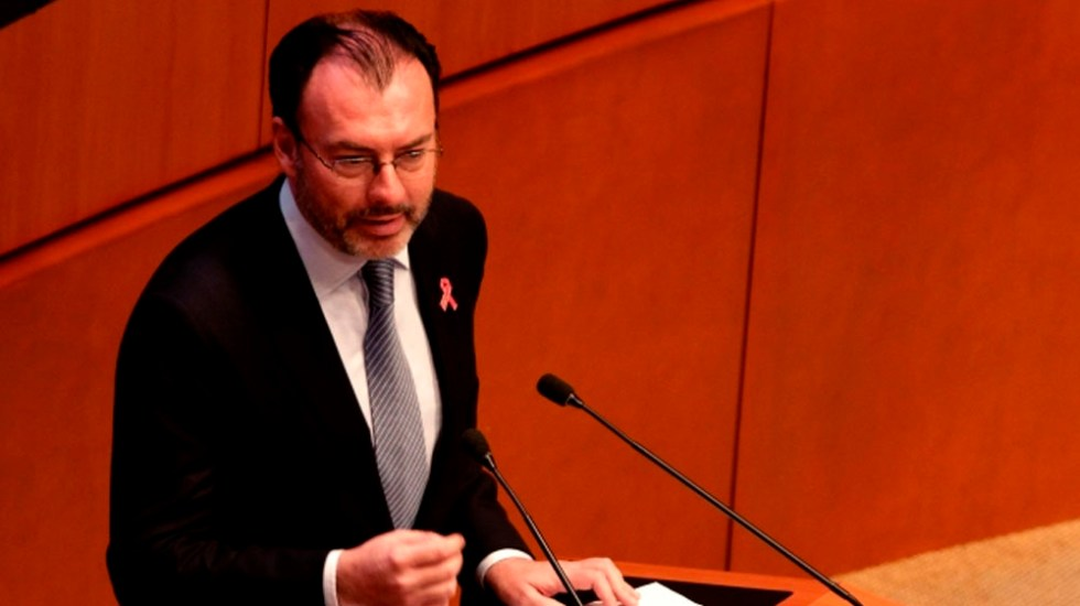 Precisiones de la Función Pública a la respuesta de Luis Videgaray - Luis Videgaray, exsecretario de Hacienda. Foto de Notimex. (Archivo)