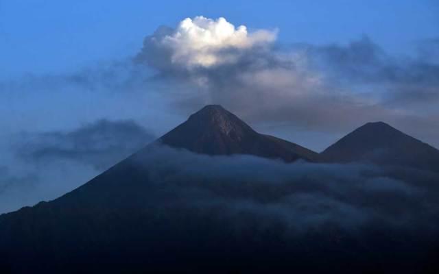 Volcán de Fuego en Guatemala entra de nuevo en fase de erupción - Foto de AFP