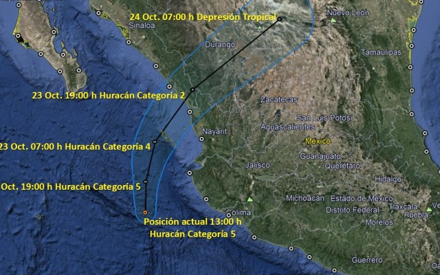 Inician evacuaciones por arribo de huracán Willa - Foto de PC Sinaloa