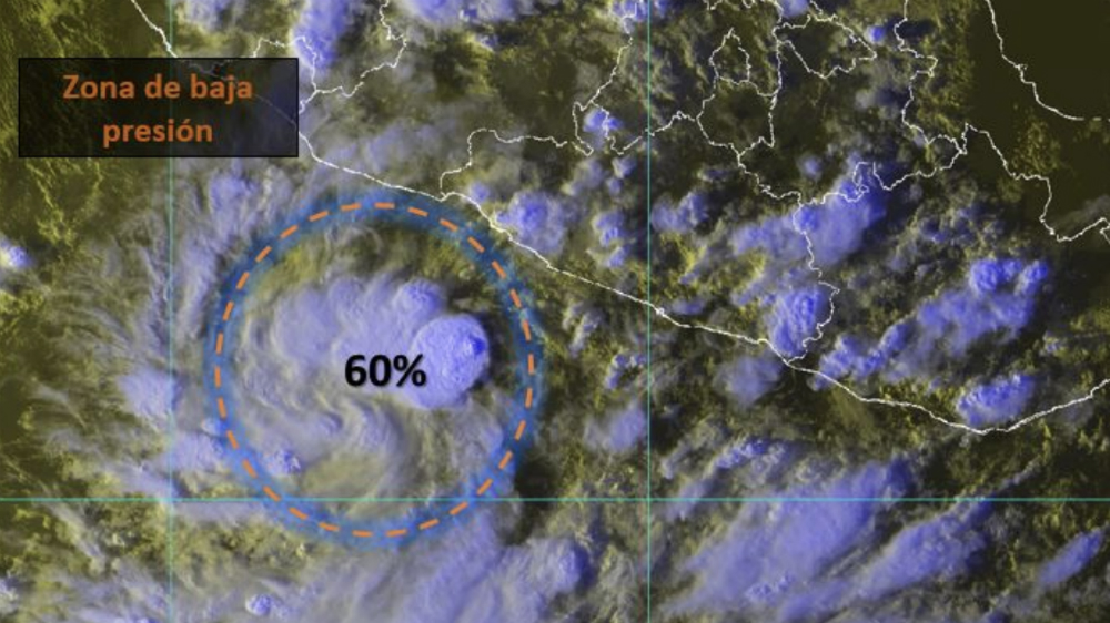 Se forma zona de baja presión con potencial ciclónico cerca de Guerrero - Foto de @conagua_clima
