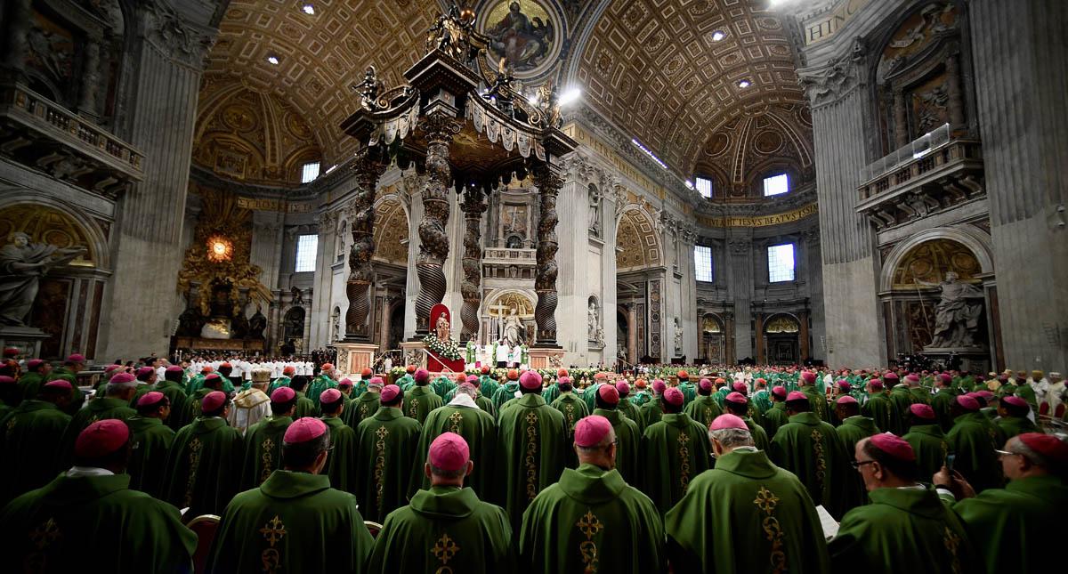 Misa de clausura del Sínodo de Obispos 2018. Foto de AFP / Filippo Monteforte