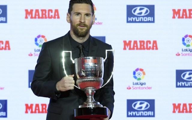 Messi recibe premio de máximo goleador de La Liga - Foto de AFP