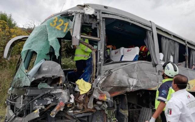 Se accidenta en Guanajuato autobús con equipo femenil de básquetbol - Foto de @SUEG_gto