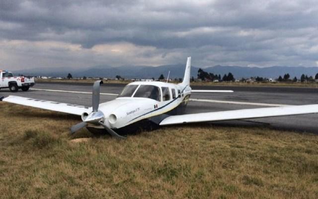 Reanuda actividad el Aeropuerto de Toluca tras despiste de avión - Foto de @Secom_Edomex
