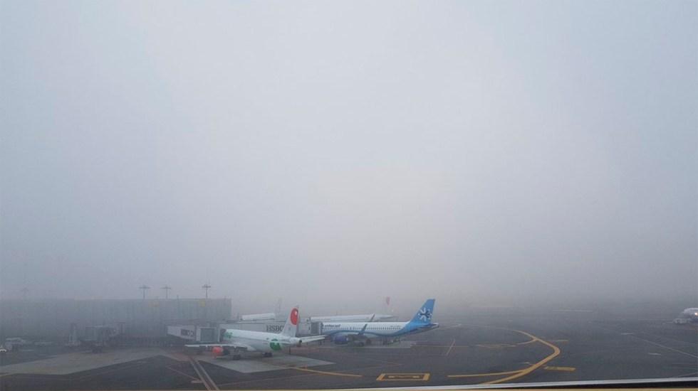 Reanudan operaciones en el AICM tras banco de niebla - Foto de @ernest0perez
