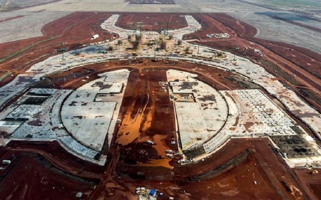 Ya se pagó deuda por cancelación del aeropuerto de Texcoco: AMLO - Construcción del NAIM. Foto de Internet