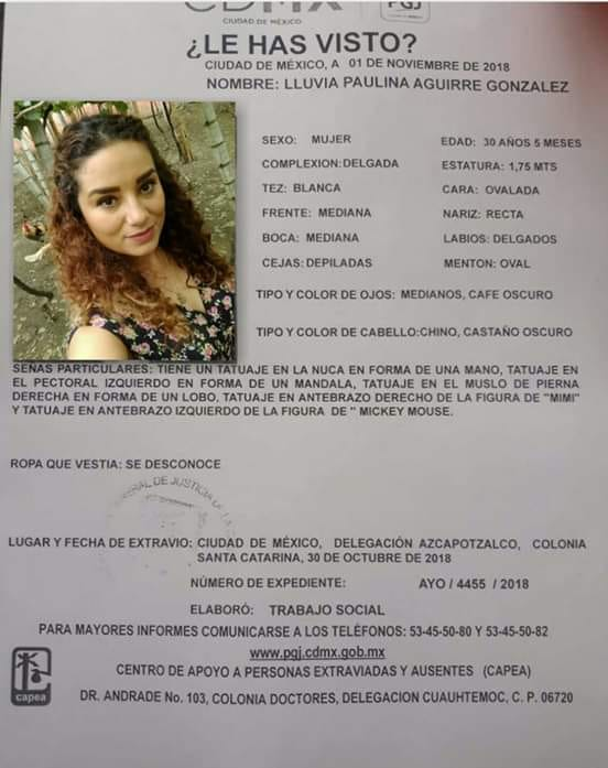 Alerta CAPEA de Lluvia Paulina. Foto de Facebook