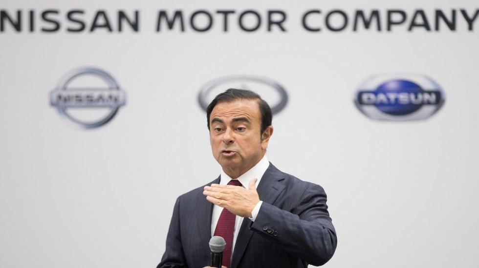 Nissan rechaza petición de Renault para nombrar sucesor de Ghosn - Carlos Ghosn de Nissan. Foto de AFP / Geoff Robins
