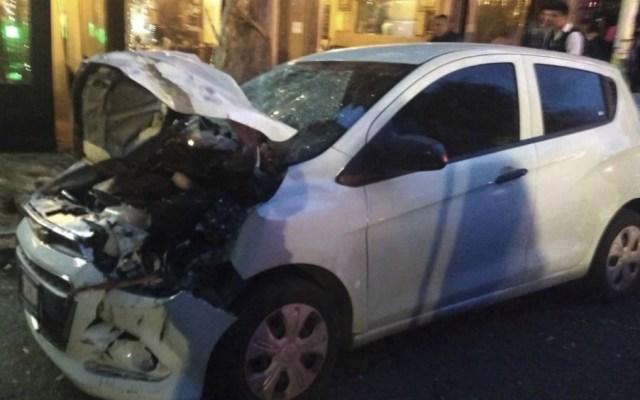 Choque múltiple en colonia Roma deja siete heridos - Foto de Quadratín