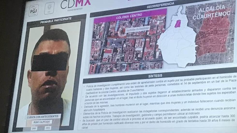"""Detienen a """"El Rata"""", relacionado con balacera en Garibaldi - El rata, implicado en la balacera de Plaza Garibaldi. Foto de @ricardovitela"""