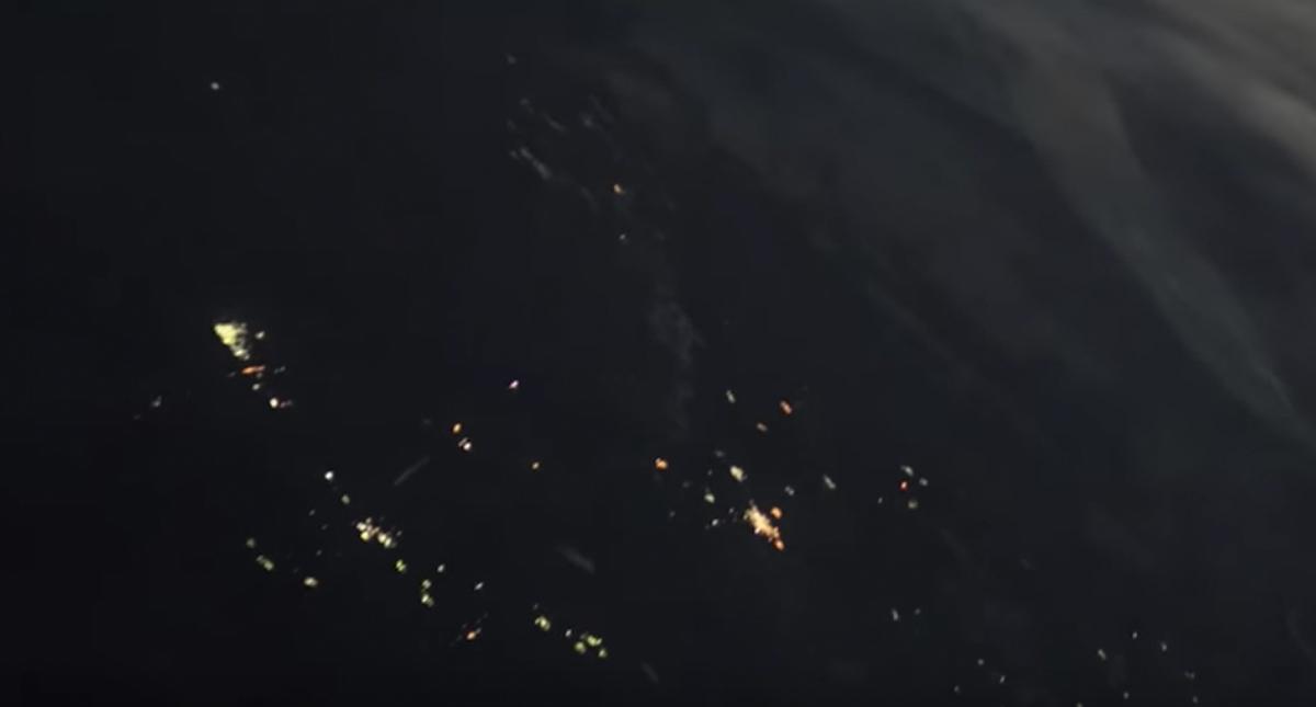 #Video Captan el lanzamiento de un cohete desde el espacio